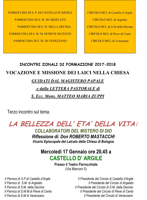 LOCANDINA CASTELLO D'ARGILE  2018 - inc 2017-2018